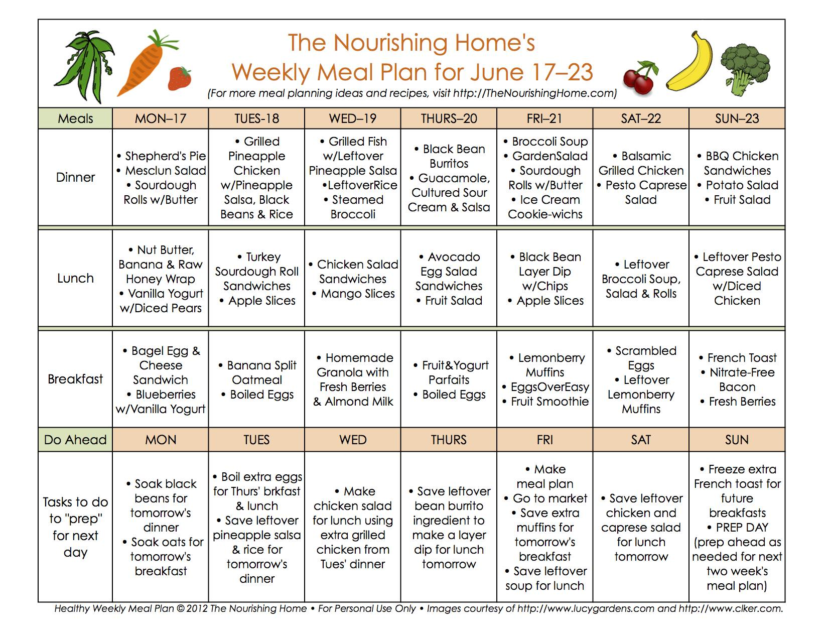 bi weekly meal plan for june 10 23 the better mom