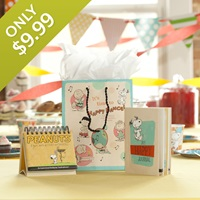 Peanuts - Happy - DayBrightener, Journal & Gift Bag Set