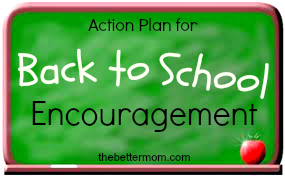Action Plan for Back to School Encouragement