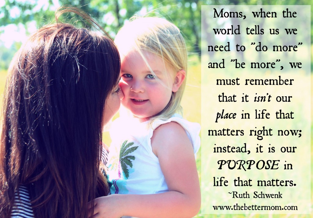 Being a mom matters!
