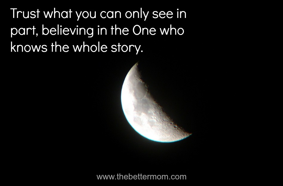 Trust in What You Can Only See in Part ~www.thebettermom.com (NOT a bad link)