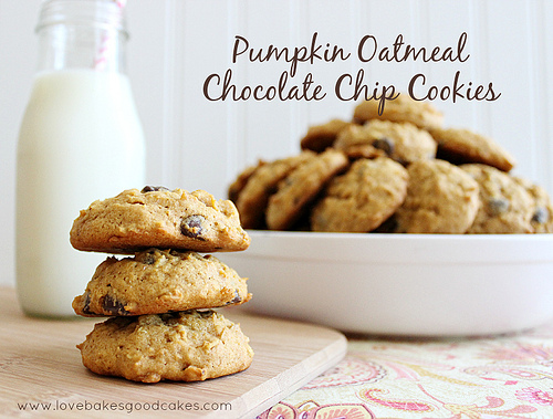 Pumpkin Oatmeal Cookies Choc Chip