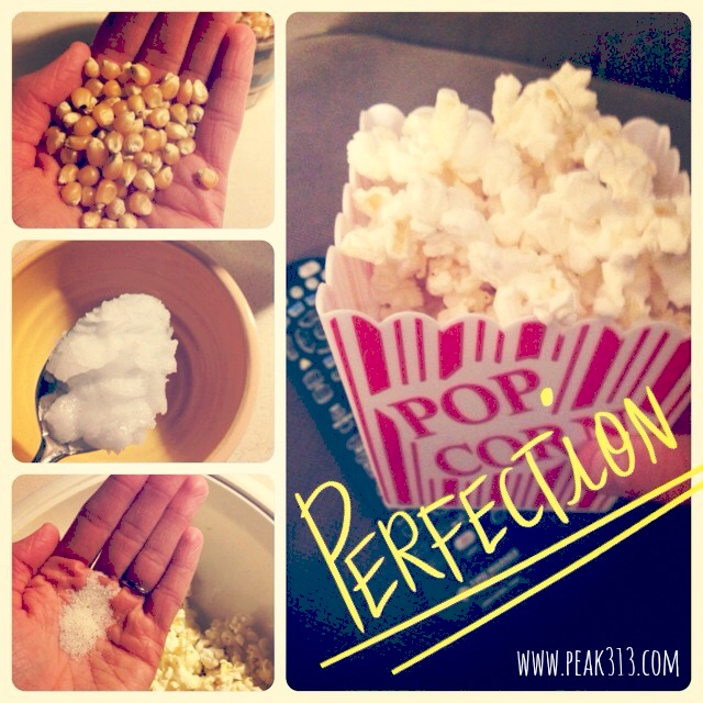 Fresh Popped Popcorn w Coconut Oil | peak313.com