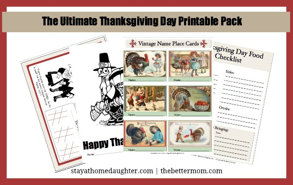 The Ultimate Thanksgiving Day Printable Pack Free