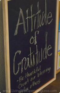 An Attitude of Gratitude wall