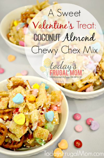 A Sweet Valentine's Treat: Coconut Almond Chewy Chex Mix
