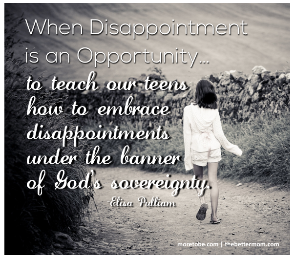 When Disappointment is an Opportunity
