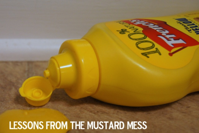 Lessons from the Mustard Mess { What To Do With Your Anger }