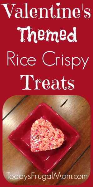 Valentine's themed rice crispy treats