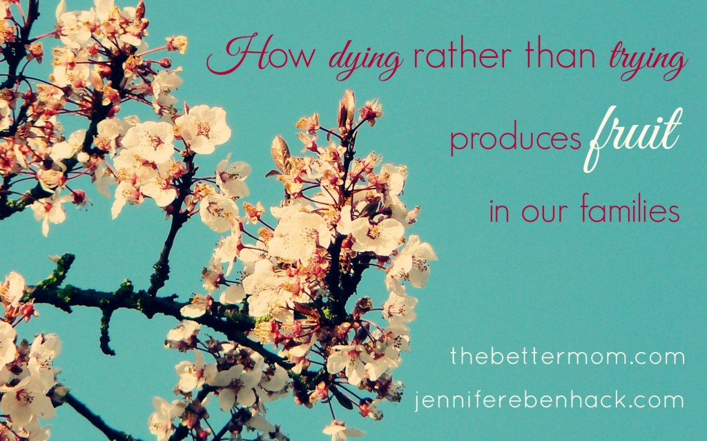 How dying rather than trying produces fruit in our families