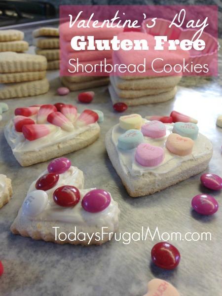 Valentine's Day Gluten Free Shortbread Cookies