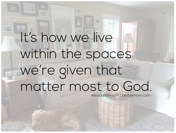 How we live in the spaces we're given . . .