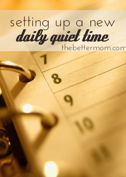 schedule quiet time