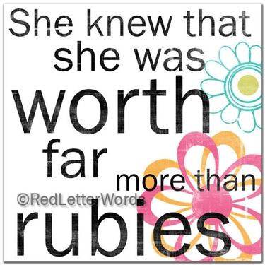 she knew she was worth