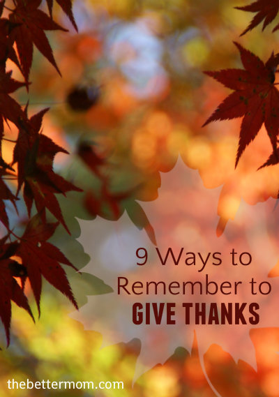 remember to give thanks