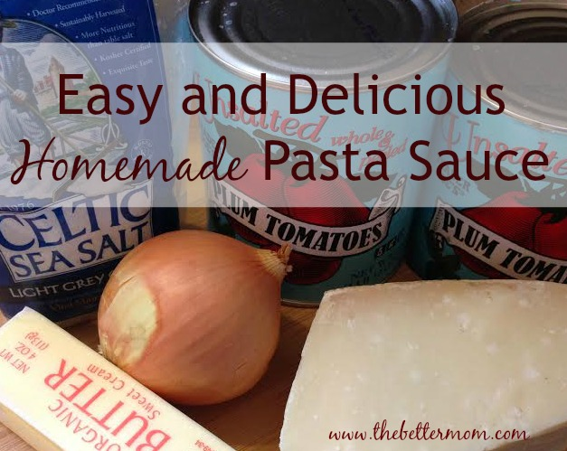 Easy and Delicious Homemade Pasta Sauce