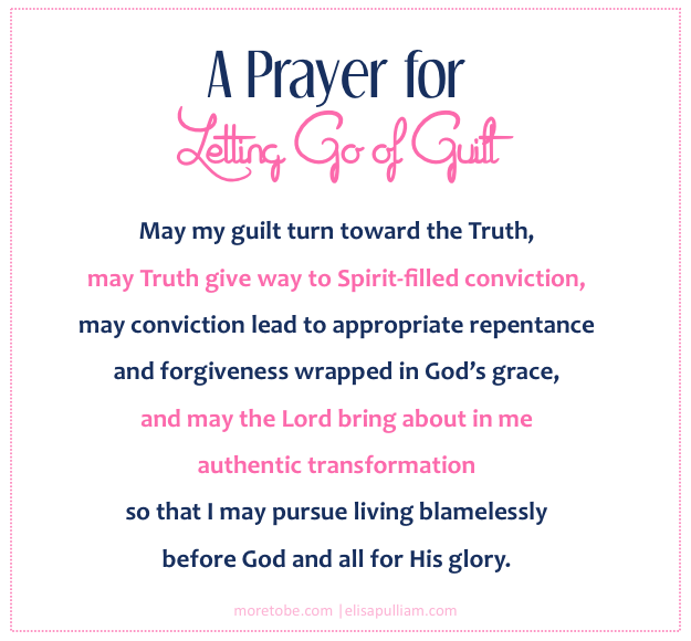 A Prayer for Letting Go of Mommy Guilt