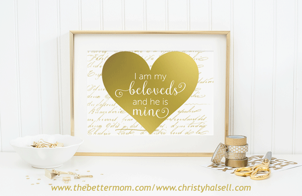 Valentine Printable - I am my beloveds