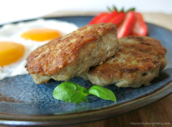 These easy & Healthy  turkey breakfast sausage patties  not only make a delicious breakfast but are also great for dinner too!