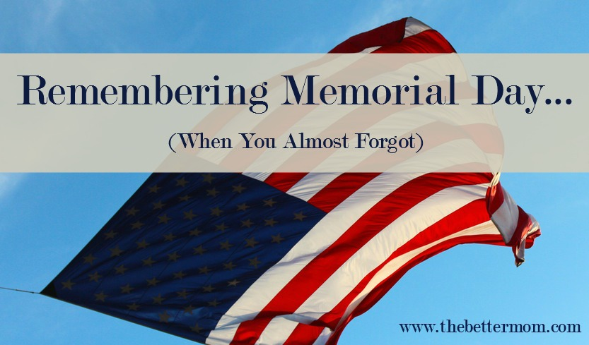 It's Memorial Day and no matter what you already have planned, it's never too late to honor the men and women who have sacrificed for our country. Teach your children what they can do to encourage our military all year long starting with these seven practical ideas!