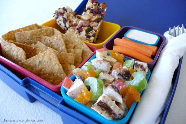 This easy-to-make  Apricot-Apple Chicken Salad  is a delicious example of simple, healthy recipes that the whole family will be excited to see in their lunch boxes.