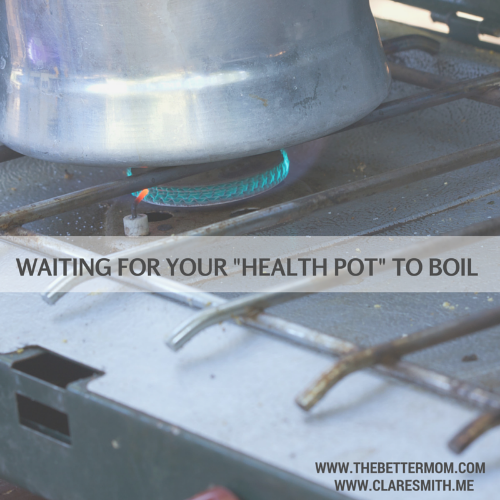 Ever sat waiting for a pot to boil only to have it feel like FOREVER? Our personal goals can be a bit like that too- when our focus is narrow, we miss the blessings of life all around us. Here's how to keep your eye on the prize and the rest of your life in balance.