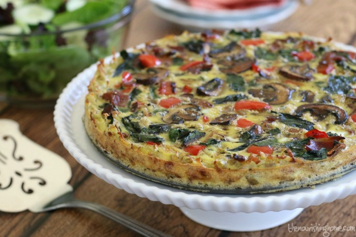 This Hearty Veggie Quiche with hash Brown Crust isn't just for breakfast or brunch – it also makes a wonderful light dinner served with a mesclun greens salad and a side of fresh fruit.