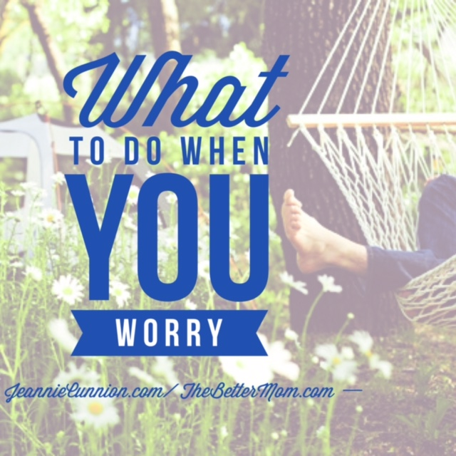 We long for peace, but we live in worry. The Lord God invites us to hand over every worry, every fear, every anxious thought and heavy burden to Him.  But how often will we have none of it?  Too often. What if, in 2016, we let our big worries lead us to even bigger prayers?