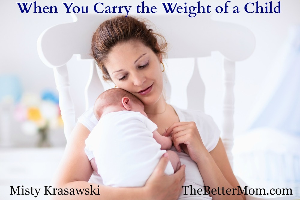 When did you first sense the weight of motherhood? The responsibility to care for a child can overwhelm us as quickly as it can inspire and delight us! Here's how we can let that weight shape our days instead of overtake us with anxiety.