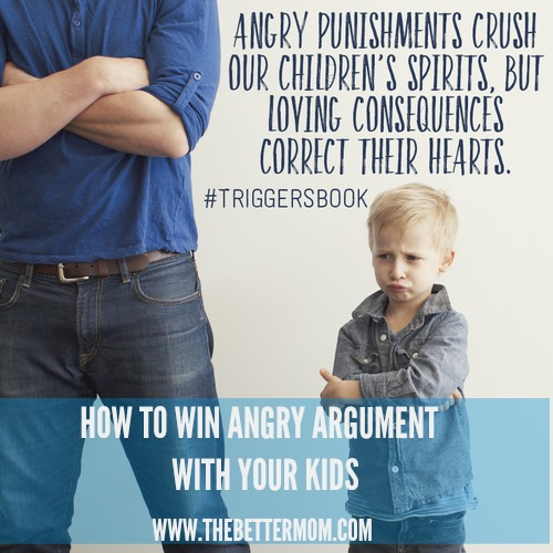 Do your children trigger your anger with their disobedience or childish responses? How can we, as moms, exchange our frustration for biblical responses that can train and teach their hearts? It's imperative that we learn how today!