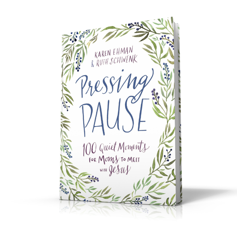 As moms we can't always get away. A lot of times we're stuck right in the middle of mayhem for most the day! The good news? Jesus always meets us right where we are! Pressing Pause: 100 Quiet Moments for Moms to Meet With Jesus was designed for you- the mom who just needs a few quiet moments. Right. Here. Discover how you can resist the rush, halt the hustle and find a little calm in the chaos today.