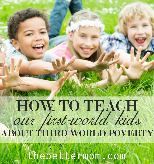 Do you want to share the reality of poverty and plight of those in the the third world with your children, but feel a little stuck? Our own emotions can feel so huge we don't know where to begin. Big hurts in a big world can be difficult to help make sense to little hearts, but here's one way to start.