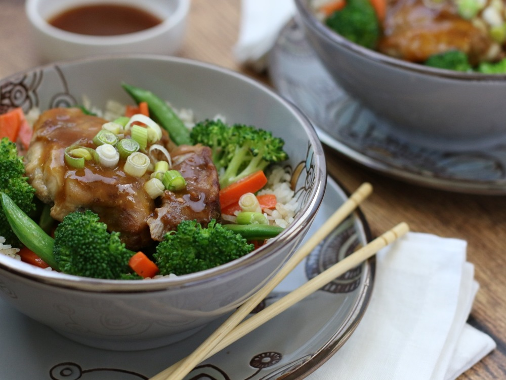This Slow Cooker Soy-Free Teriyaki Chicken  with its thick, slightly sweet and tangy sauce  is an easy,  healthy & Tasty meal your whole family will enjoy down to the last bite!