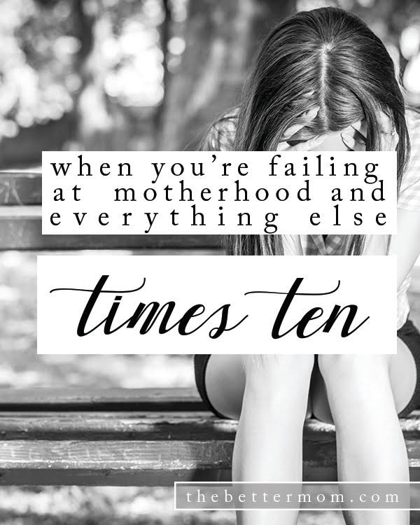 Do you feel like you are failing at motherhood? And maybe everything else too? Sweet mama, you are not alone! We've all been there. Here are three things to keep in mind to encourage your heart in the midst of heavy days.