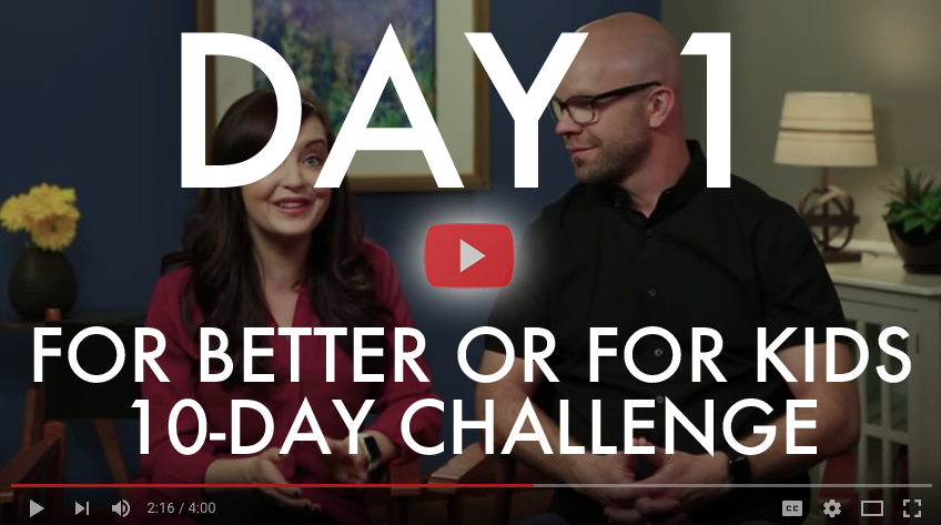 Looking for a fun way to grow closer to your spouse? Well,  we are soooo THRILLED to offer you and your spouse our FREE marriage challenge ----from us to you!! Today, we  want to invite you and your spouse to join us on a 10-Day marriage challenge! Did I mention it's FREE? It is. 10 days, 10 videos. We share some funny stories and provide some challenges for you and your spouse to discuss together. Check out all of the details and be sure to join us!