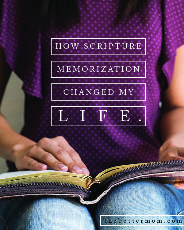 If our goal is to be like Christ, then we must hide more of His word in our heart. Scripture memorization can literally change our lives and the lives of our children! Here is an easy way to begin today.
