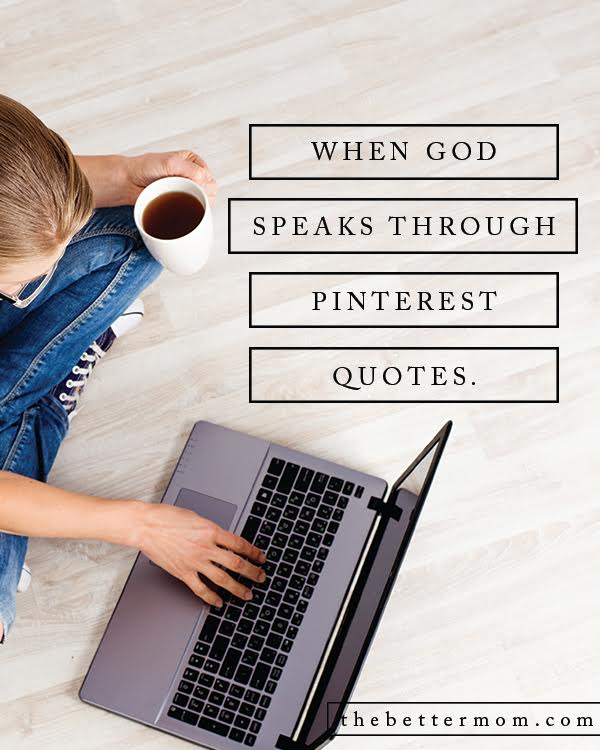 Sometimes God speaks to us in the most unexpected places (ahem, Pinterest!) but when we quiet our hearts to listen to Him, He is sure to fill us with inexplicable peace and joy. Today, let's listen, let's draw close, and follow His call.