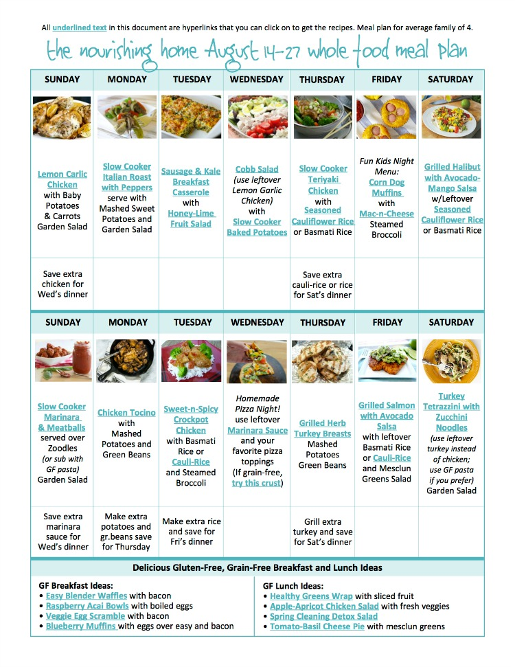 Bi weekly whole food meal plan for august 14 27 the better mom remember many mobile devices and tablets are not able to open links within a pdf so save the meal plan to your computer first forumfinder