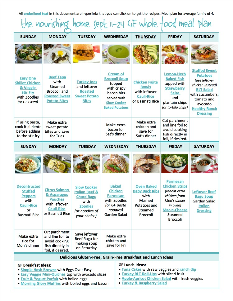 Are you looking for an easy and delicious meal plan your whole family will love?? Look no further!! (oh...and it is FREE!!)