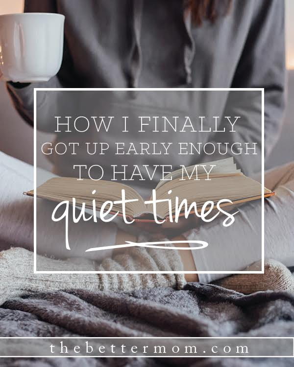 What do mornings look like for you? So many of us have a desire to wake up early but just can't seem to pull it off. Here's what finally worked for one mom and why it matters for all of us.