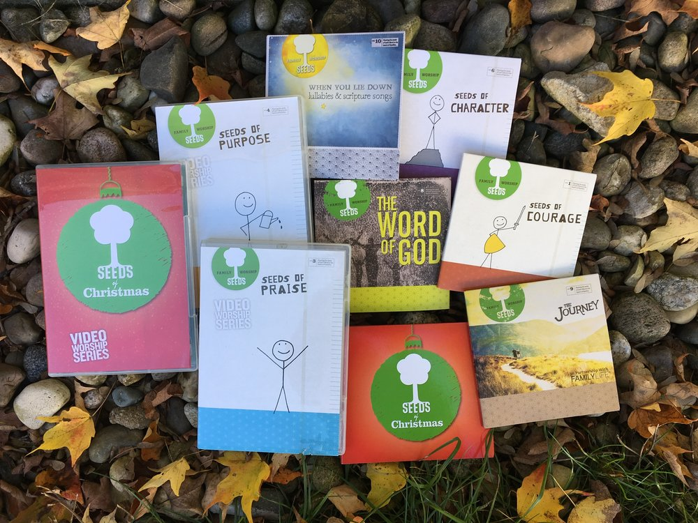 Planting seeds of scripture in our child's heart now can produce a harvest for a lifetime. Seeds Family Worship CDs and DVDs make a perfect addition to your home and are a meaningful idea for gifts for those you love!