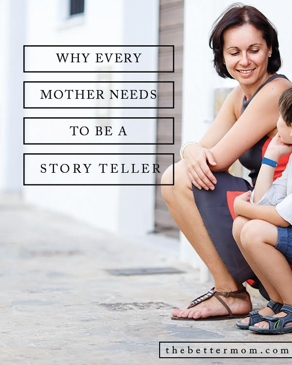 Our kids need to know their story and the wonder of their heritage and all God has done in your family. Guess what mamas? They need you to tell them!
