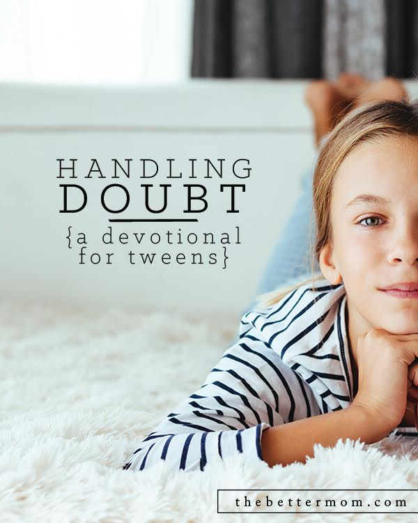 When our kids doubt God, we can easily feel like we have done something wrong as moms. But, its important to remember that our kids are learning to trust God in their own personal relationship with Him, not because we told them to. As moms, let's not miss an opportunity to direct our kids to discover truth for themselves!