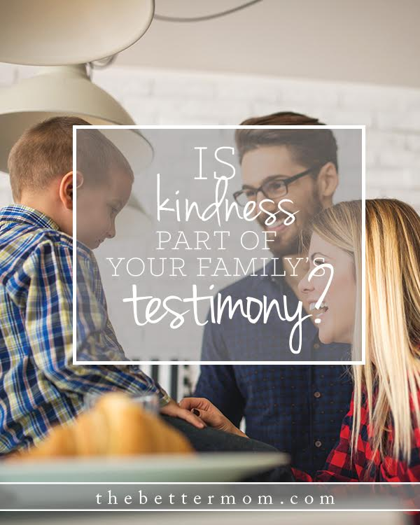 What qualities define your family? What kind of testimony is your family to Christ? There is one quality you can cultivate that may have an impact far greater than you'd ever expect.