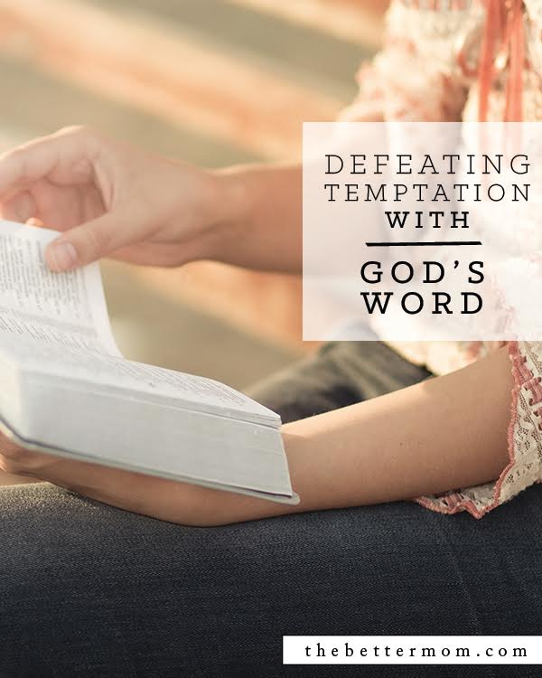 Our children will face trials and temptation just like us, but are they armed and ready? We can assuredly tell them that there is nothing that can not be defeated by God's word.