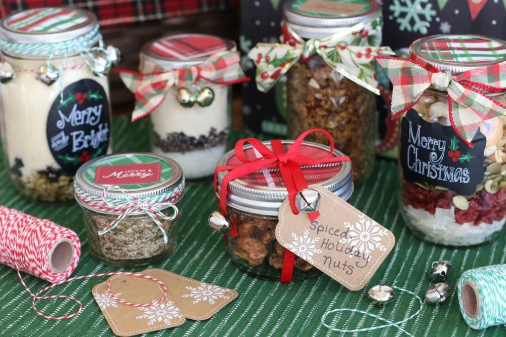One of our favorite Christmas traditions is making  Delicious Homemade GF Mason Jar Gifts . Simply layer the ingredients of a treasured recipe in a jar, then add a festive ribbon and tag, and you've created a thoughtful gift handmade with love!