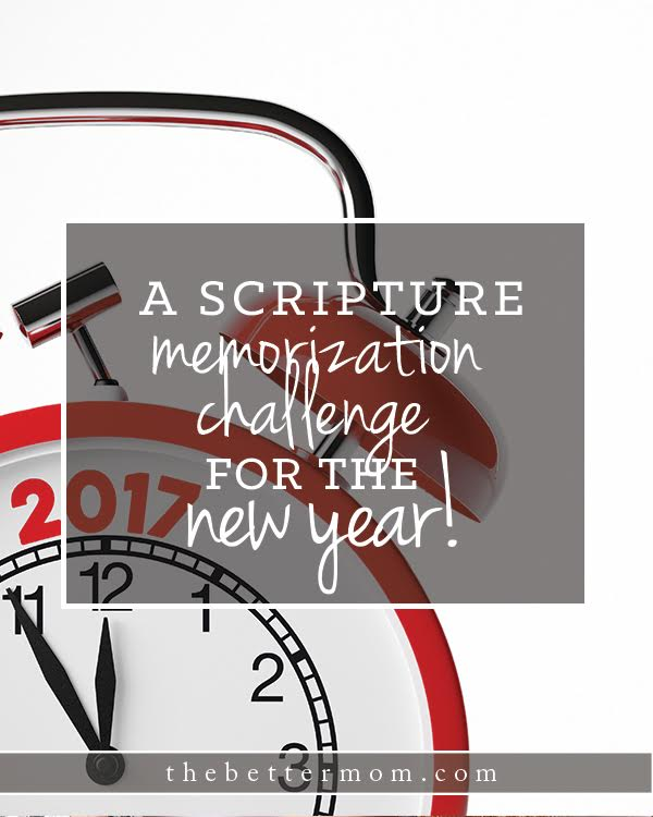 A Scripture Memorization Challenge for the New Year — the Better Mom