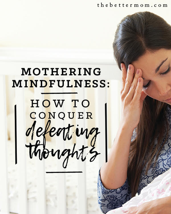 Do you have a negative spiral of thoughts throughout your day? As moms, so many of us deal with guilt, with the feeling that we are not enough, and just outright lies from an enemy that wants to defeat us in our role. Before something sends your mind reeling today, read this and be encouraged to take those thoughts captive and take them to Christ!
