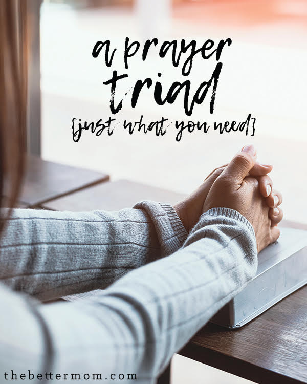 "Do you need prayer? The answer is a resounding ""yes"" for us all, but maybe you could use consistent community and prayer warriors in your life. You need a triad!"