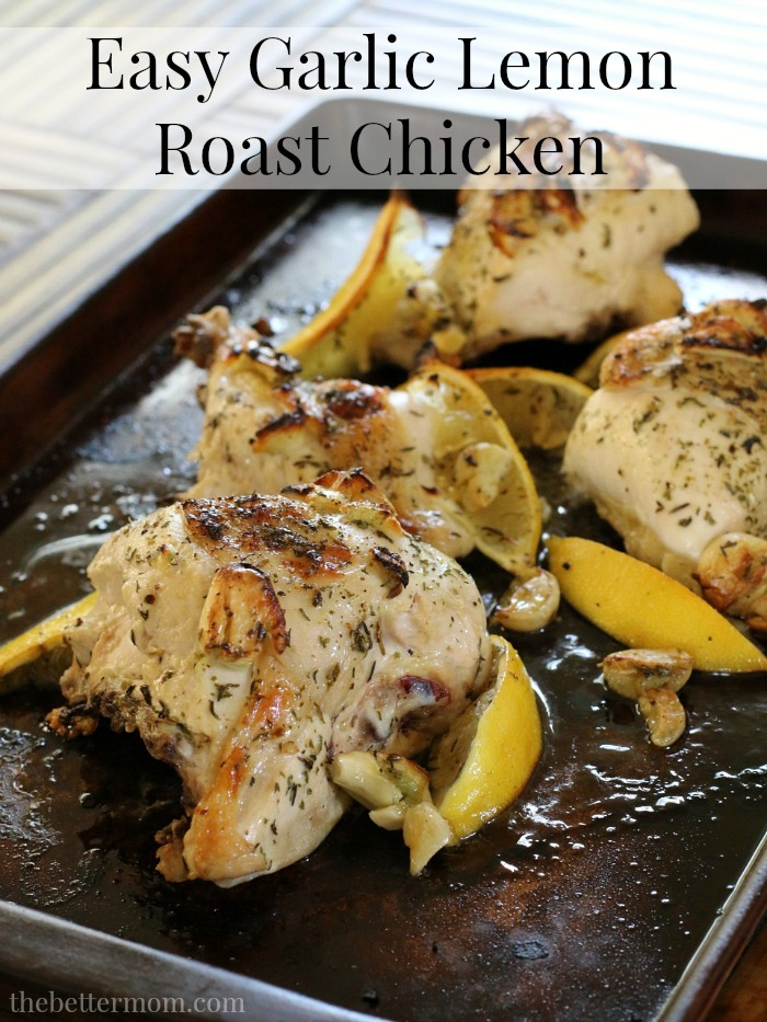Flavorful no-fuss dinners are a great way to get a healthy meal on the table during busy weeknights, which is why they regularly appear in my weekly meal plans.   This simply delicious roast chicken is a perfect example of a healthy no-fuss meal. It tastes like you spent hours in the kitchen, but the truth is, it takes just minutes to prep and is ready to serve in 30 minutes!